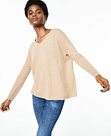 V-Neck Pure Cashmere Sweater, Regular & Petite Sizes, Created for Macy's
