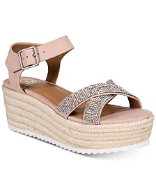 Material Girl Women's Brinny Platform Espadrilles, Created for Macy's