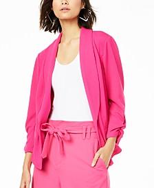 Bar III Ruched-Sleeve Blazer, Created for Macy's