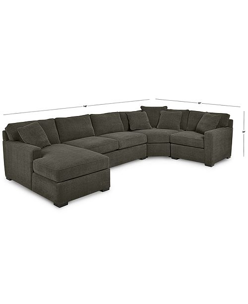 Radley 4-Piece Fabric Chaise Sectional Sofa, Created for Macy\'s
