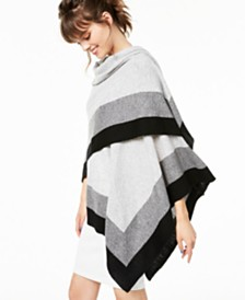 Charter Club Striped Cashmere Wrap, Created for Macy's