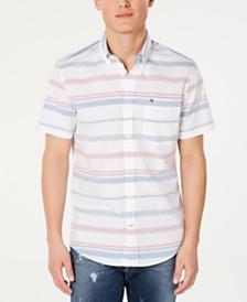 Tommy Hilfiger Men's Myles Custom-Fit Stripe Shirt