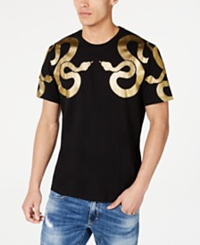 I.N.C. Men's Foil Serpents T-Shirt, Created for Macy's
