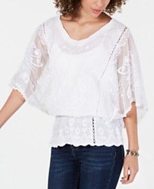 Style & Co Butterfly Sleeve Top, Created for Macy's