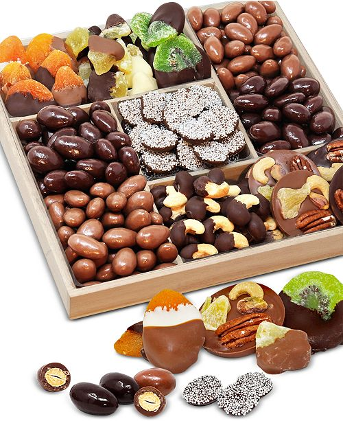 Chocolate Covered Company Spectacular Belgian Chocolate-Covered Fruit & Nut Gift Tray