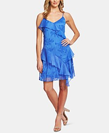 Embroidered Ruffled Dress