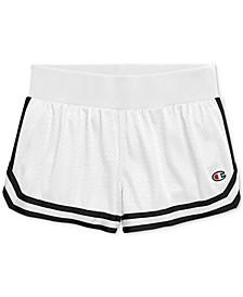 Mesh Notch-Hem Shorts
