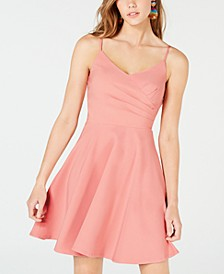 Juniors' Ruched Fit & Flare Dress