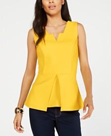 Thalia Sodi Sleeveless Peplum Top, Created for Macy's
