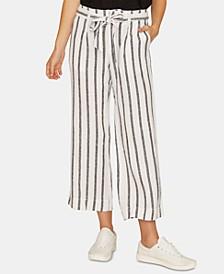 Inland Striped Wide-Leg Capri Pants