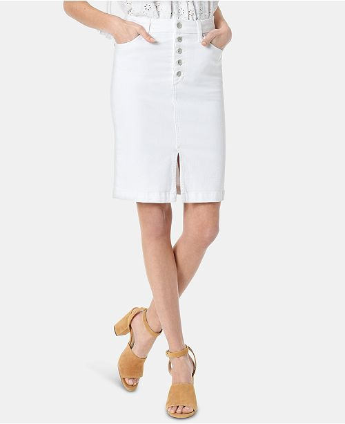 Joe's Jeans Denim Button-Fly Pencil Skirt