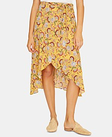 Jamie Printed Wrap Skirt