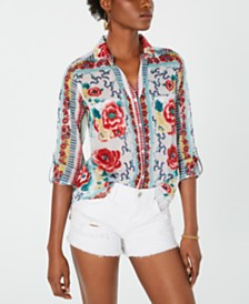 Raga Melissa Cotton Printed Button-Up Shirt