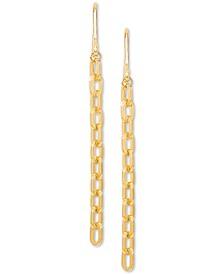 Forzatina Chain Drop Earrings in 10k Gold