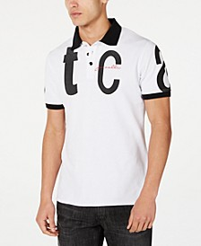 Men's Letter Logo Graphic Polo Shirt