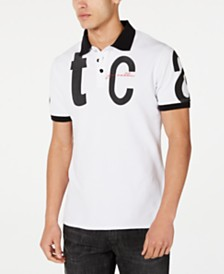 Just Cavalli Men's Letter Logo Graphic Polo Shirt