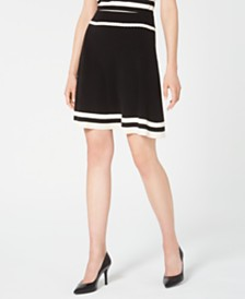 Anne Klein Colorblocked A-Line Skirt