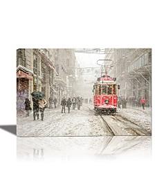 Eurographics Beyoglu Istanbul Turkey Framed Canvas Wall Art
