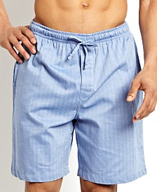 Nautica Men's Sleepwear, Blue Herringbone Short