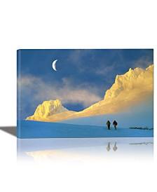 Eurographics Toward Frozen Mountain Framed Canvas Wall Art