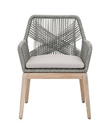 Essentials for Living Loom Outdoor Dining Arm Chair Set of 2