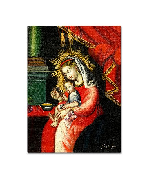 """Trademark Global Masters Fine Art 'The Virgin and Son I' Canvas Art - 14"""" x 19"""""""