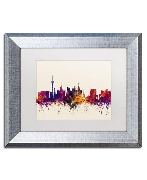 """Trademark Global Michael Tompsett 'Las Vegas Nevada Skyline' Matted Framed Art - 11"""" x 14"""""""