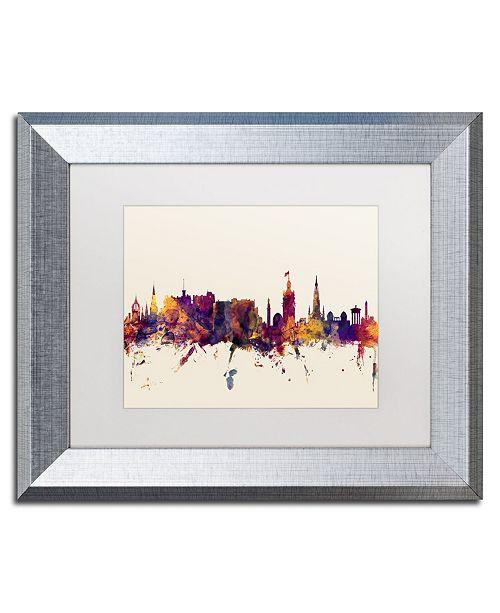 """Trademark Global Michael Tompsett 'Edinburgh Scotland Skyline' Matted Framed Art - 11"""" x 14"""""""