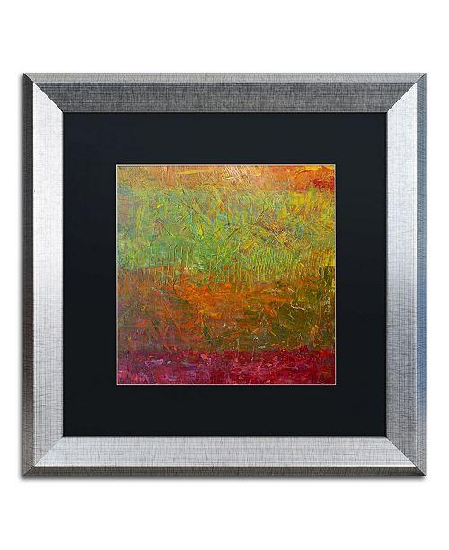 "Trademark Global Michelle Calkins 'Fallen Leaves' Matted Framed Art - 16"" x 16"""