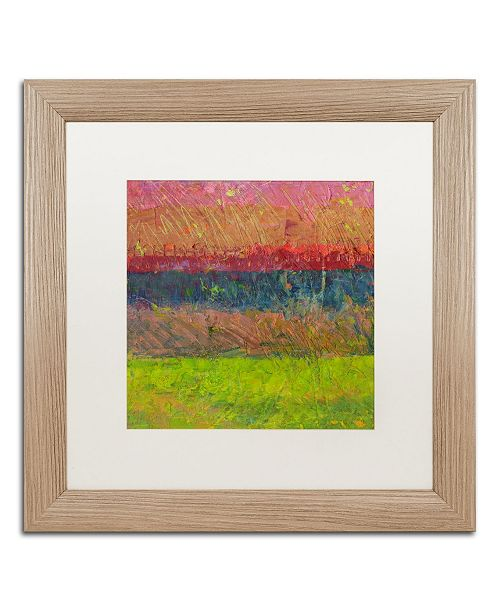 "Trademark Global Michelle Calkins 'Lake and Hills' Matted Framed Art - 16"" x 16"""