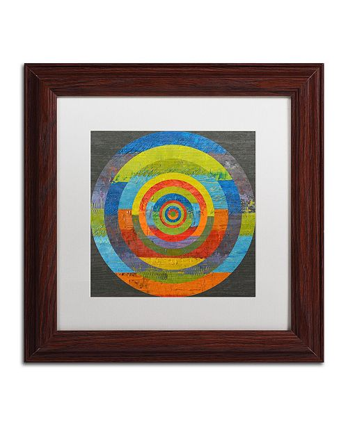 "Trademark Global Michelle Calkins 'Full Circle' Matted Framed Art - 11"" x 11"""