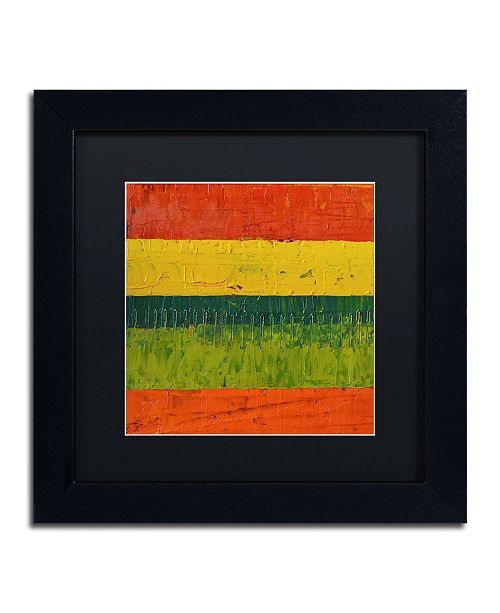 "Trademark Global Michelle Calkins 'Fence' Matted Framed Art - 11"" x 11"""