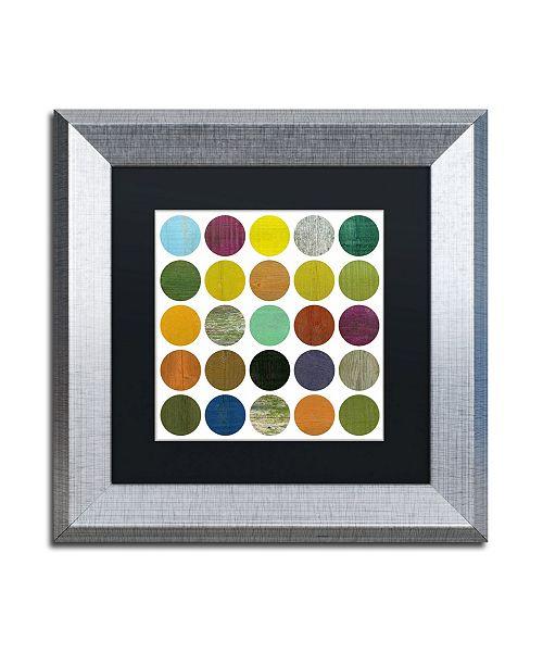 "Trademark Global Michelle Calkins 'Rustic Rounds 4.0' Matted Framed Art - 11"" x 11"""