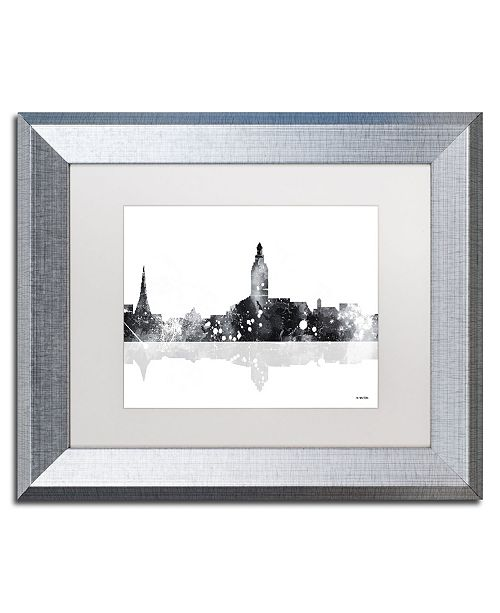 "Trademark Global Marlene Watson 'Annapolis Maryland Skyline BG-1' Matted Framed Art - 11"" x 14"""