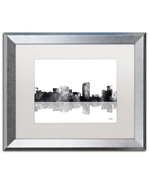 "Trademark Global Marlene Watson 'Honolulu Hawaii Skyline BG-1' Matted Framed Art - 16"" x 20"""