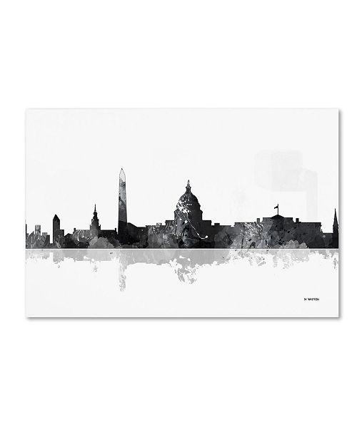 """Trademark Global Marlene Watson 'Washington DC Skyline BG-1' Canvas Art - 12"""" x 19"""""""