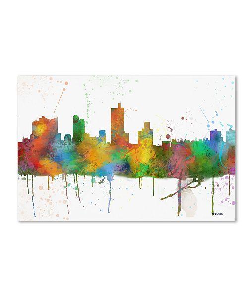 "Trademark Global Marlene Watson 'Forth Worth Texas Skyline Mclr-1' Canvas Art - 12"" x 19"""