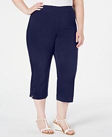 Crochet-Lace Appliqué Capri Pants, Created for Macy's