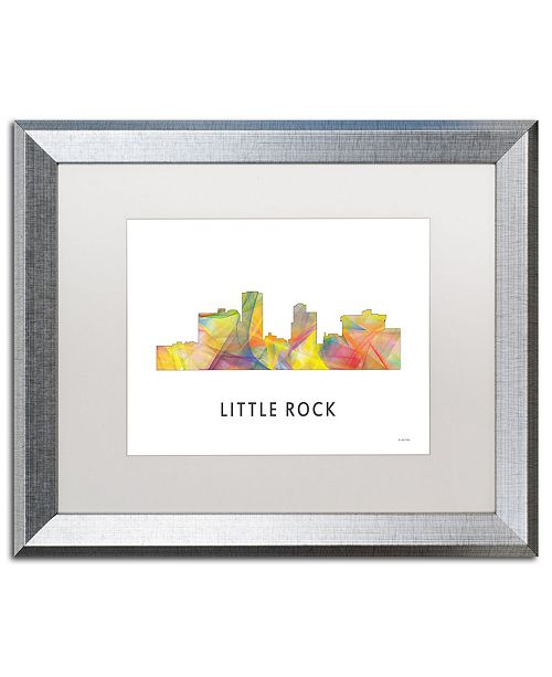 "Trademark Global Marlene Watson 'Little Rock Arkansas Skyline WB-1' Matted Framed Art - 16"" x 20"""
