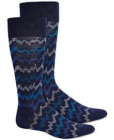 Perry Ellis Men's Chevron Socks