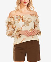 0ebb9a51fae3b6 Vince Camuto Paisley Spice Ruffled Off-The-Shoulder Top