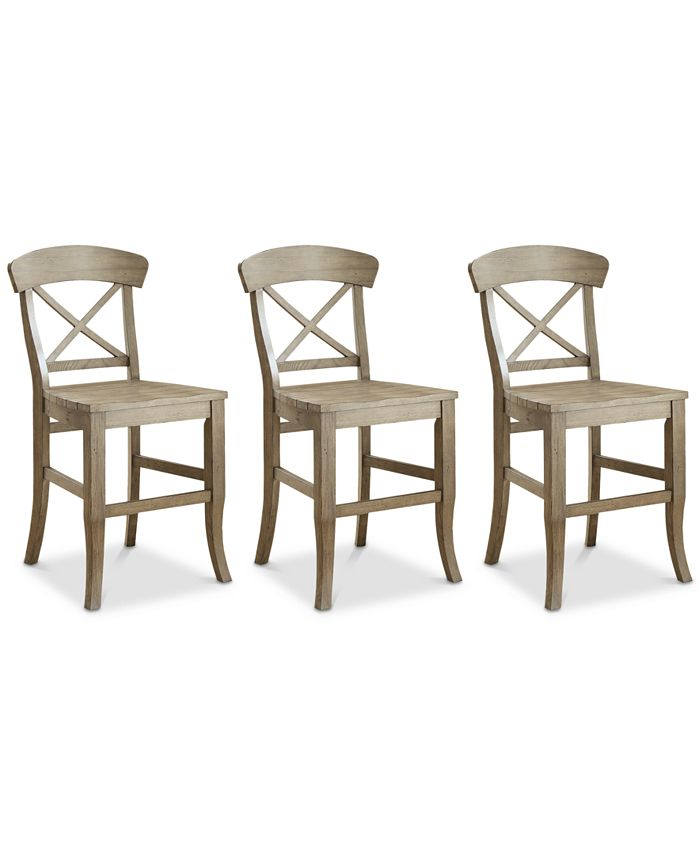 Furniture - Layla Counter Stool, 3-Pc. Set (3 Counter Stools)