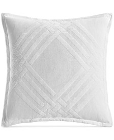 "CLOSEOUT! Locked Geo Cotton 26"" x 26"" European Sham, Created for Macy's"