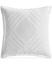 """Hotel Collection Locked Geo Cotton 26"""" x 26"""" European Sham, Created for Macy's"""
