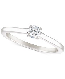 Diamond Solitaire Engagement Ring (1/4 ct. t.w.) in 14k White Gold