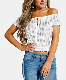 Caia Off-The-Shoulder Pointelle Top