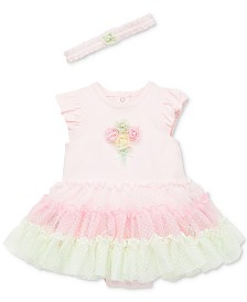 Little Me Baby Girls 2-Pc. Ruffle Popover & Headband Set