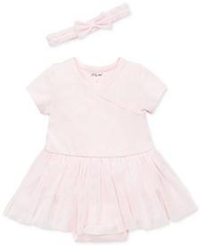 Little Me Baby Girls 2-Pc. Ballerina Tutu Popover & Headband Set