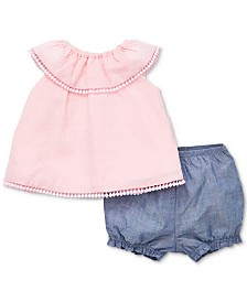 Little Me Baby Girls 2-Pc. Cotton Tunic & Shorts Set