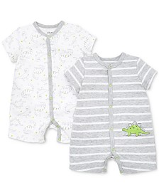 Little Me Baby Boys 2-Pk. Dinosaur Cotton Rompers